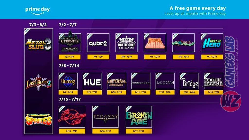 Lista de juegos de Twich Prime de Julio en WZ Gamers Lab - La revista digital online de videojuegos free to play y Hardware PC