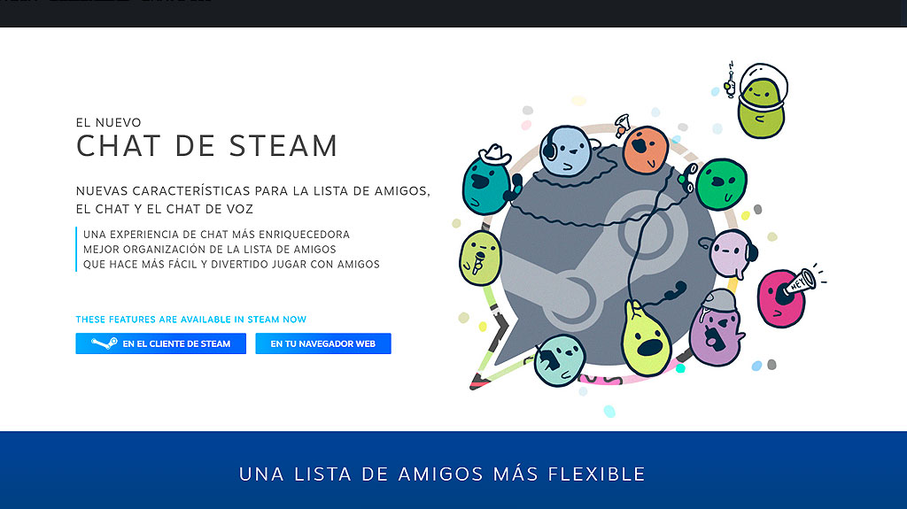El nuevo chat de Valve ha llegado a Steam en WZ Gamers Lab - La revista digital online de videojuegos free to play y Hardware PC